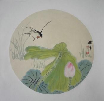 山东著名花鸟画家张淑平小写意花鸟画小品-中国收藏网