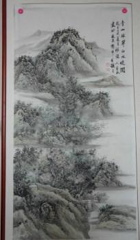 画家王英民清新四尺山水画-中国收藏网