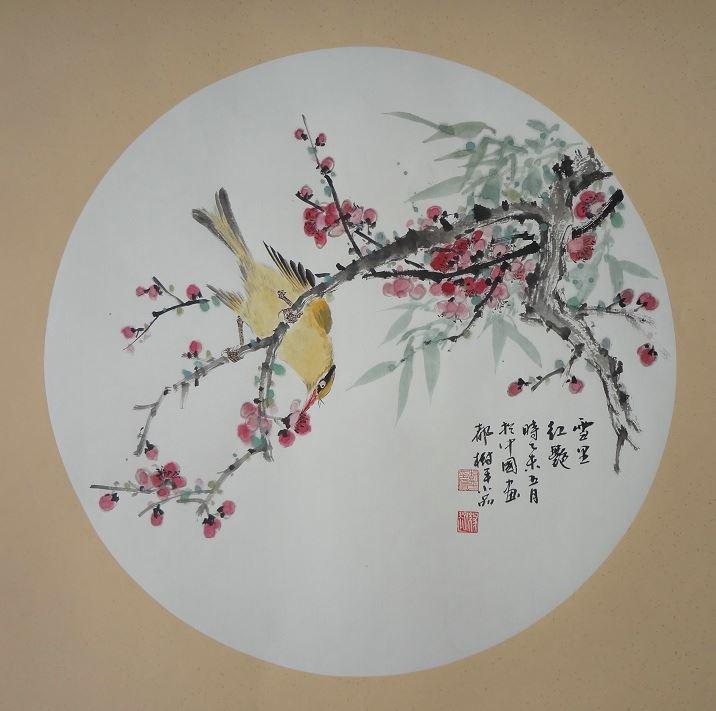 张淑平小写意花鸟画小品 潍坊翰墨轩艺术画廊
