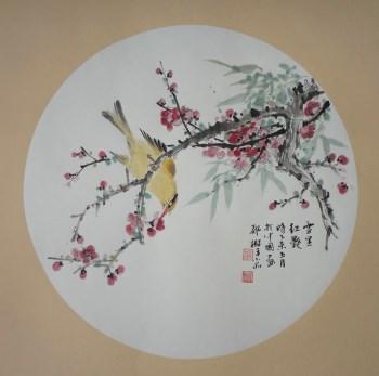 张淑平小写意花鸟画小品-中国收藏网