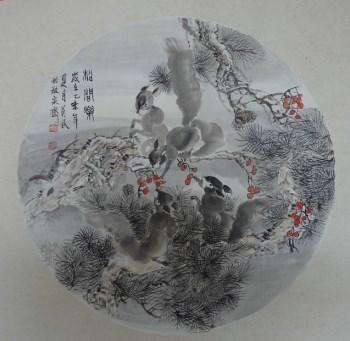 山东国画名家王英民国画小品松间乐-中国收藏网