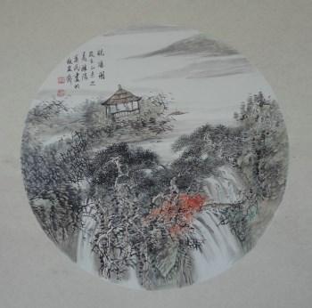 画家王英民国画小品观瀑图-中国收藏网