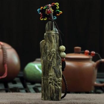 【香缘木艺】 霸气无双 雕工细腻 达拉干沉香半沉挂件-中国收藏网