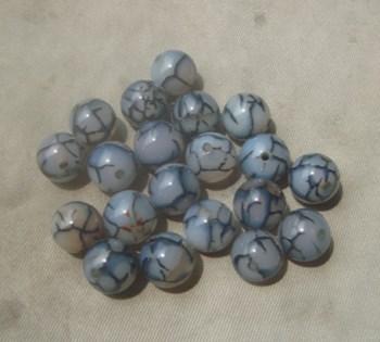 20个玛瑙哥釉珠子,-收藏网