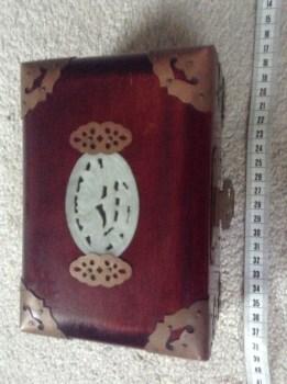 七十年代出口红朩镶和田白玉首饰合-中国收藏网