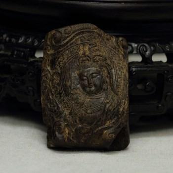【香缘木艺】<观音菩萨> 加里曼丹沉香沉水雕件-中国收藏网