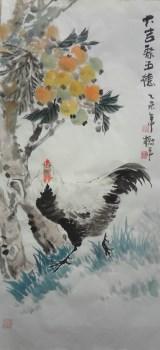 山东画家张淑平花鸟画大吉聚五德-中国收藏网