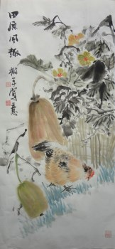 山东画家张淑平精品花鸟画田园风趣-收藏网
