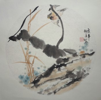 山东画家张淑平精品小写意花鸟画树平小品-收藏网