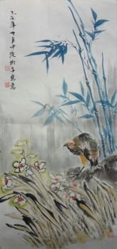 山东画家张淑平花鸟画小品三尺画-中国收藏网