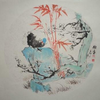推荐山东画家张淑平小写意花鸟画小品-收藏网