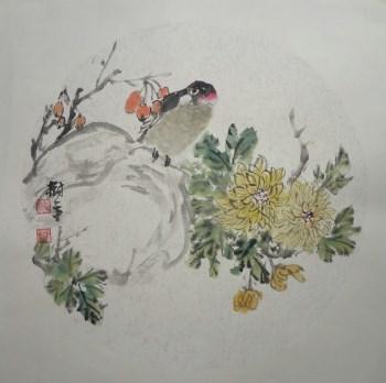 山东画家张淑平精品花鸟画小品-收藏网