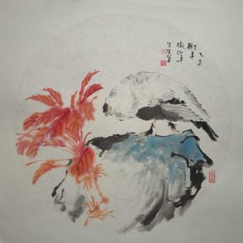 山东画家张淑平精品小写意花鸟画树平小品-中国收藏网