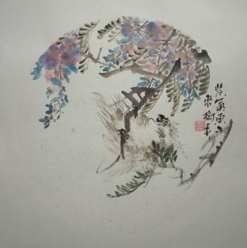 山东名人名家字画张淑平精品花鸟画紫气东来图-收藏网