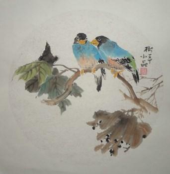 山东画家张淑平精品花鸟画雅趣图-收藏网