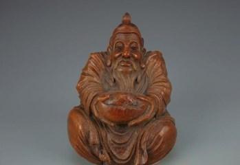 老竹根雕财神-中国收藏网