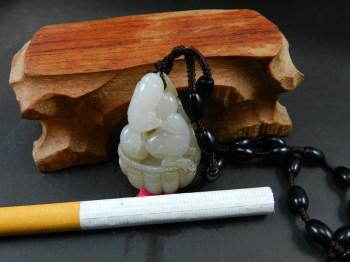 珍品天然新疆和田玉糖白玉精雕挂件 和和美美 玉质油润细腻-中国收藏网