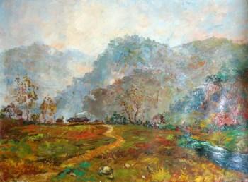 朝鲜油画《清晨》-中国收藏网