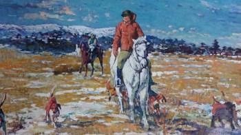 朝鲜油画《牧场》-中国收藏网