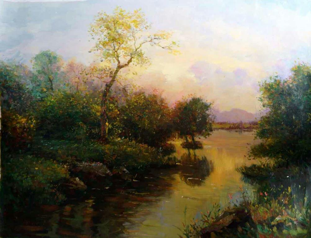 朝鲜油画《意境之美》