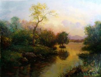 朝鲜油画《意境之美》-中国收藏网