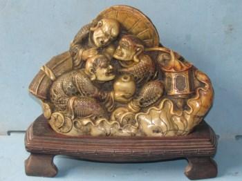 寿山芙蓉石圆雕。罗汉-中国收藏网