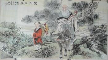 画家王英民精品人物画六尺紫气东来图-中国收藏网