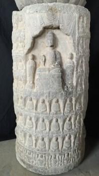 青石石雕佛柱-中国收藏网