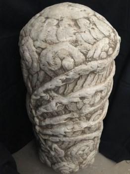 汉白玉石雕凤柱-中国收藏网