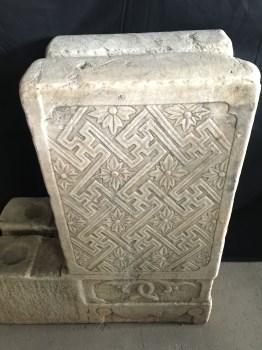 汉白玉石雕方门档石-中国收藏网