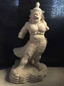 青石石雕力士一尊-中国收藏网
