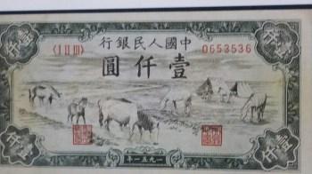 一版人民币两张合售(1000元马饮水,5000元牧羊)-收藏网
