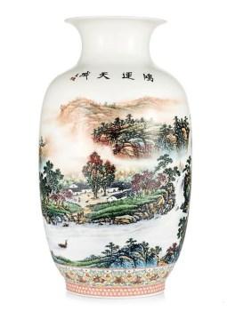 黄美尧巅峰作品国画山水鸿运天成富贵瓶-收藏网