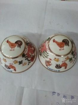 明代五彩鸡缸不倒杯一对-中国收藏网