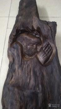沉香达摩木雕-中国收藏网