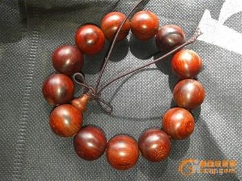 2.0直径印度小叶紫檀手串 -收藏网
