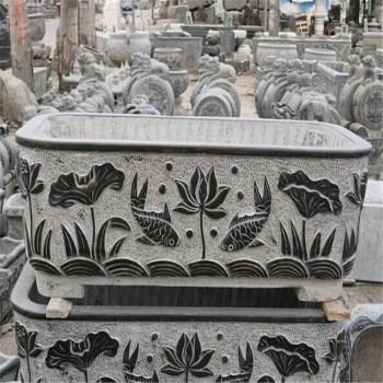 供应青石仿古石雕花盆 鱼缸 鱼池-中国收藏网