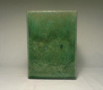 k977翠绿釉方形笔筒-收藏网