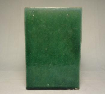 k981翠绿釉方形笔筒-收藏网