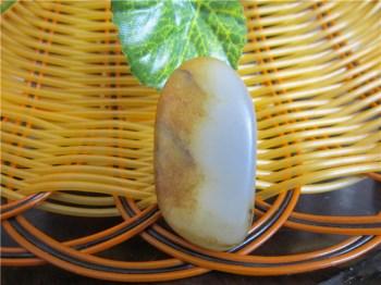 和田籽料黄金沁皮(19.1g)-中国收藏网