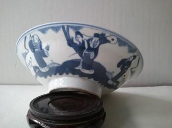 1——清晚期青花福禄寿三星碗,-中国收藏网