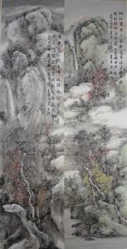 王英民精品山水画四条屏-中国收藏网