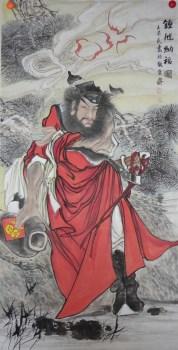 王英民精品四尺人物画钟馗纳福图-中国收藏网