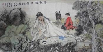 王英民精品四尺写意人物画茶圣陆羽图-中国收藏网