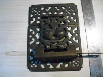 清箱柜精美铜配件一套 连锁 连钥-收藏网