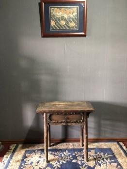 清代榆木香桌-收藏网