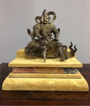 明代韦陀菩萨坐像-收藏网