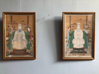 民国时期绘人物设色肖像画-收藏网