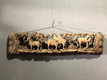 清代香樟木雕传宗接代-收藏网