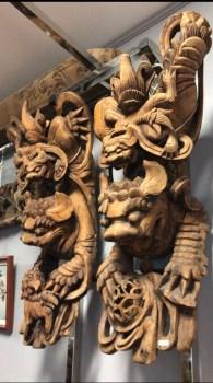 清代道光木雕牛腿建筑构件一对-收藏网